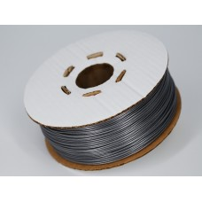 PLA - серый металлик полупрозрачный - Гофро-Катушка